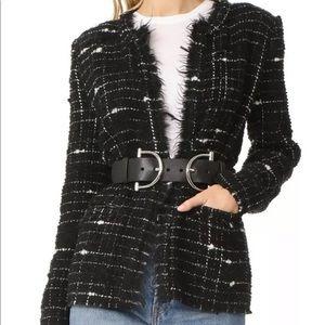 New Iro Espo Tweed Boucle Jacket Blazer